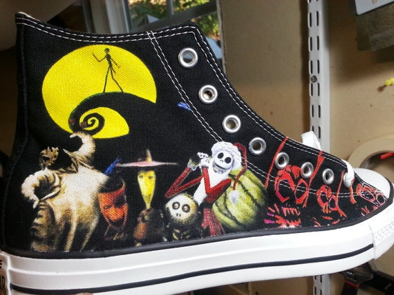 0b72c01363f The Nightmare Before Christmas Custom Converse All Stars