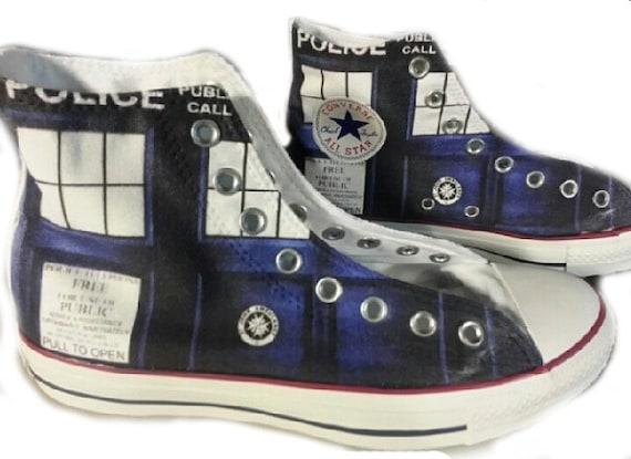 TARDIS Doctor Who Custom Converse All Stars