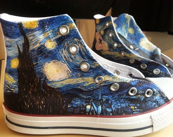 Starry Night Custom Converse All Stars