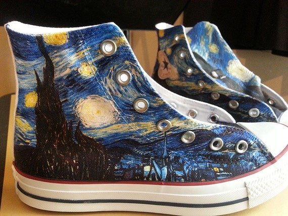 687ff2a6c3a8a0 Starry Night Custom Converse All Stars