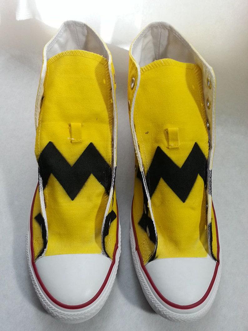 36c712f1bebd Charlie Brown Custom Converse All Stars