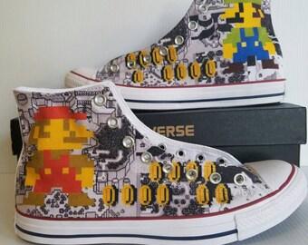 Super Mario Bros Custom Converse All Stars