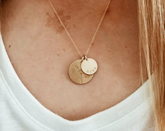 Custom Wild Poppies Necklace in 14/20 Gold Fill