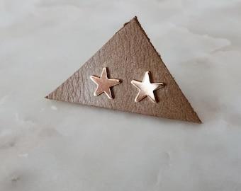 Gold Star Stud Earrings in 14/20 Gold Fill