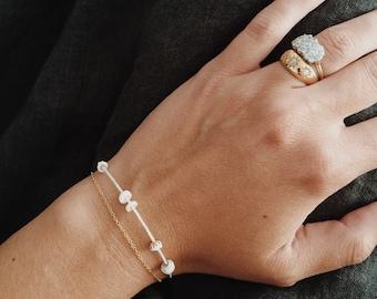 Silk Puka Shell Bracelet