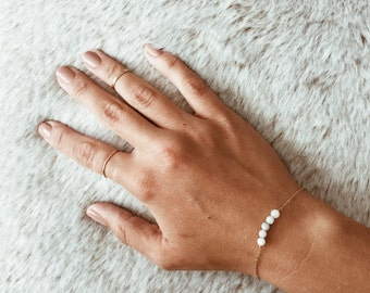 Jade Bead Bracelet on a 14/20 Gold-fill, 14/20 Rose Gold-fill, or Sterling Silver Chain
