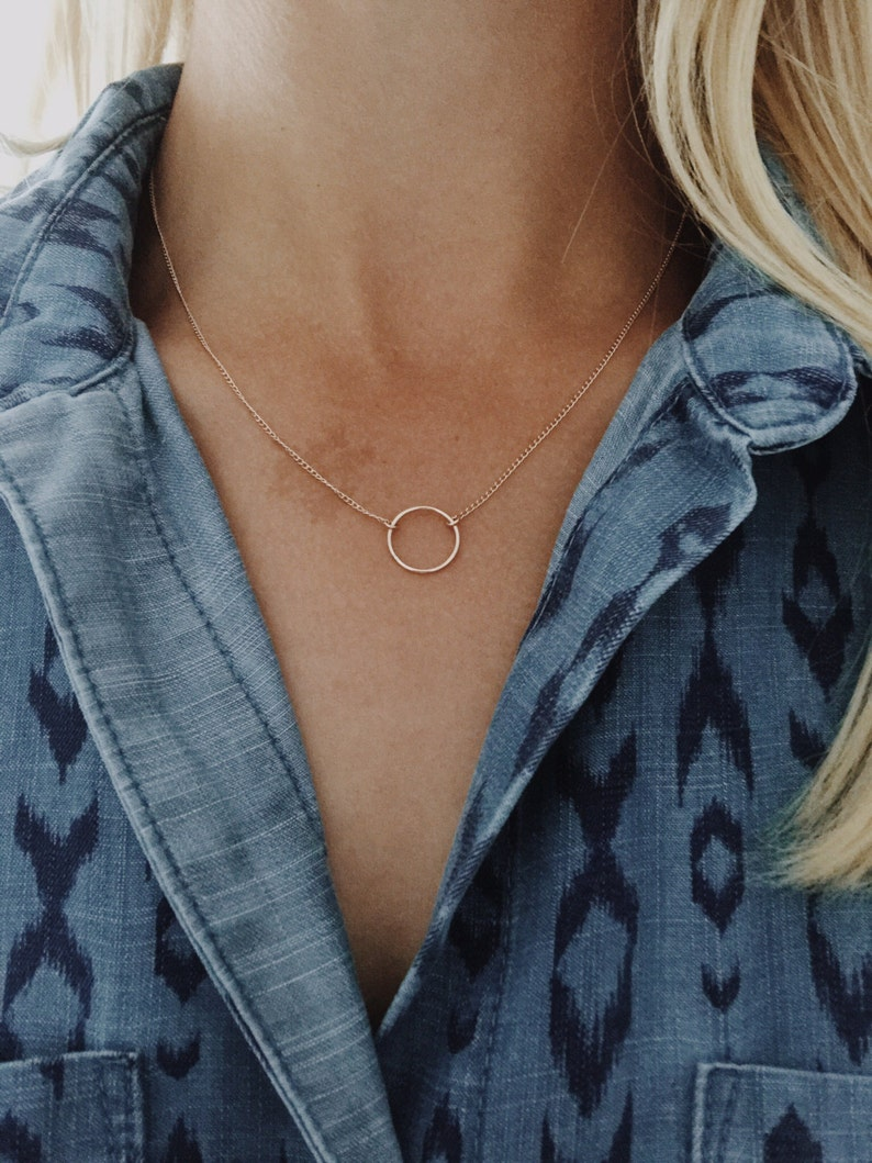 19 or 20 goldfill chain 16 18 17 1420 Gold Fill or Sterling Silver Infinity Circle Necklace 15