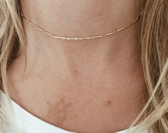 Chain Link Choker in 14/20 Gold-Fill