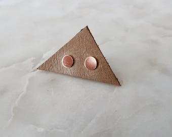 Rose Gold Circle Studs in 14/20 Rose Gold Fill