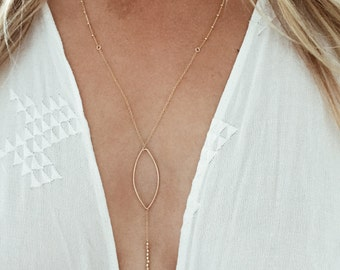 Dream Catcher Y Lariat Necklace in 14/20 Gold-fill