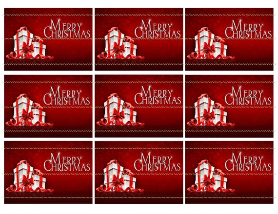 Geschenkanhänger Frohe Weihnachten.Rote Und Weiße Weihnachten Geschenkanhänger Geschenke Frohe Weihnachten Rot Band Druckbare Tags Rot Weihnachten Tags Digitale Kunst Digital