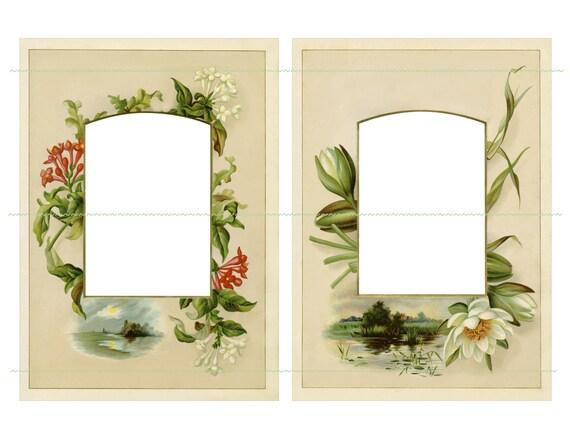 INSTANT DOWNLOAD Vintage Flowers Frames Large Frames Vintage Frames ...
