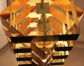 Awesome 60s Hanging Lamp Light Space Age Denmark Geometric Stacked Star Shape Design by E.S.Horn Pendant Danish 1960s Mid Century 70s