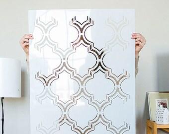 Moroccan Stencil Etsy