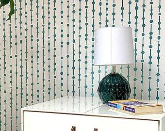 Dew drops wall stencil - geometric stencil and Large wall stencil, Scandinavian stencil pattern for DIY projects, Stencilit - Wall stencils