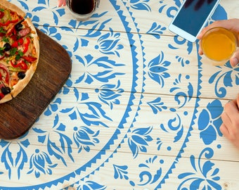 Flower Mandala Stencil - Wall stencil, Floor stencil, Tile stencil, Table stencil for DIY project - Geometric stencil and Easy home decor