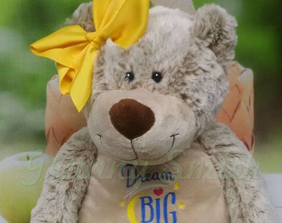 "BEAR *EXTRA LARGE* and extra plush Brown bear Customize & personalize a 16"" stuffed animal stuffie. Embroidered how you want!"