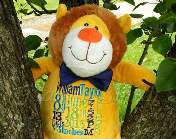 CHRISTMAS SALE plush animals.  Customized and personalized embroidery.  Free shipping in the US. Limited animal options.