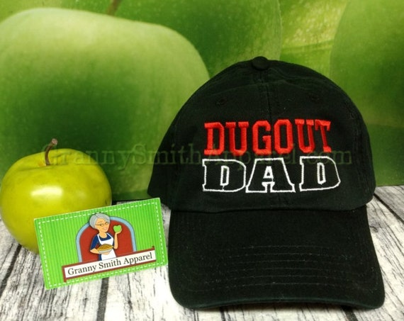 Dugout Dad. Father's Day Gift for dad. Baseball Cap. Trucker Hat. Baseball Coach. Baseball Dad.  Baseball. Custom personalized baseball hat.
