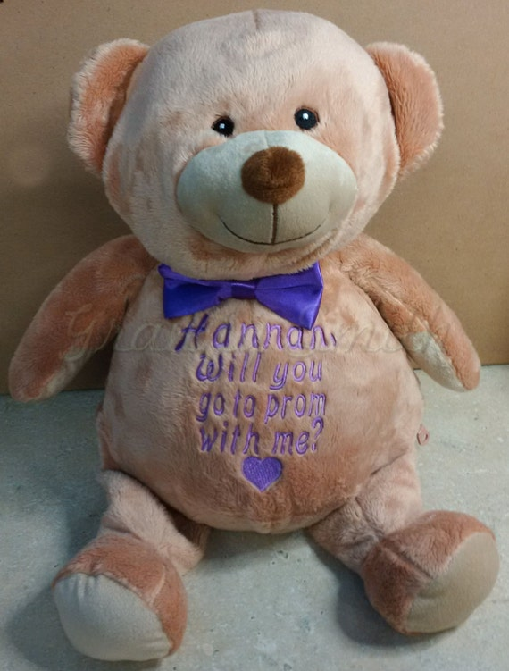 """BROWN BEAR Customize & personalize a plush 16"""" embroidered. Graduation. Baby, wedding, birthday, shower, christening, special event, holiday"""