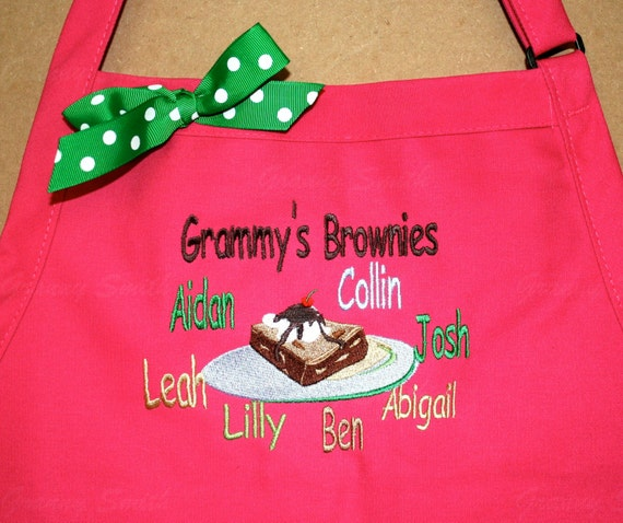 """3 pocket CUSTOMIZED bib apron (24""""L x 28""""W). Will design based upon your request. Great Thanksgiving or Christmas gift. Bow or not . Fall"""