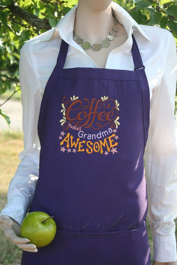 Coffee makes _______ AWESOME apron. Kitchen, diner, work, lunch lady, cafeteria, cafe, waitress, mom, dad, employee. For all coffee lovers!