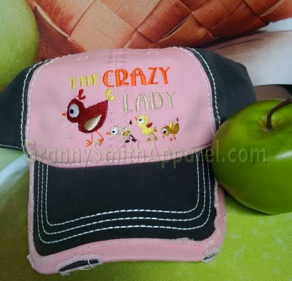 Crazy Chicken Lady Hat. Proud Chicken Mom Baseball Cap. Chicken Chick. Coop Accessory. Farm Girl. Hen house. Chicken Coop Cleaning. Rooster.