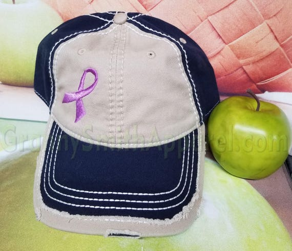Hat with ribbon for YOUR cause!  Customize the ribbon color and the hat! Multiple Sclerosis, Breast Cancer. Ovarian Cancer. Overseas troops.