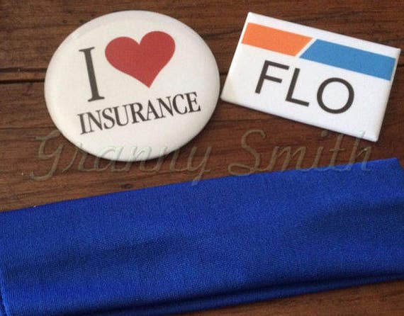 insurance pins halloween costume. 3 piece I love insurance pin and name badge set with blue headband (Apron NOT included) actress, agent