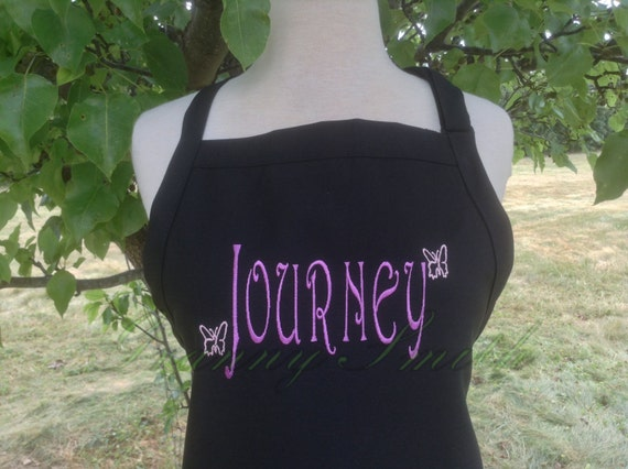 "Name bib apron you customize + personalize with three pockets (24""L x 28""W) Birthday, Anniversary, Sister, Mother, Aunt, Step-family, Cousin"
