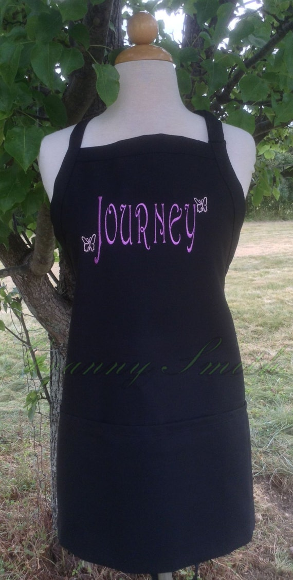 "Name bib apron you customize with small designs + NO pockets (28""L x 24""W) Birthday, Anniversary, Sister, Mother, Aunt, Step-family, Cousin,"