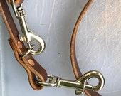 Handmade dual function leather dog lead