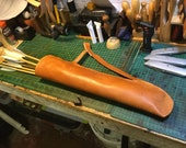 Handmade and stitched archery quiver