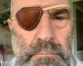 Handmade, real leather, functional comfortable eyepatch