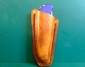 Leather Folding Knife Holster, hand made and finished.