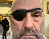 Leather Hand Made flat profile eyepatch