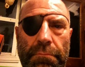 Real, Functional, Leather Eye Patch, handmade and finished.
