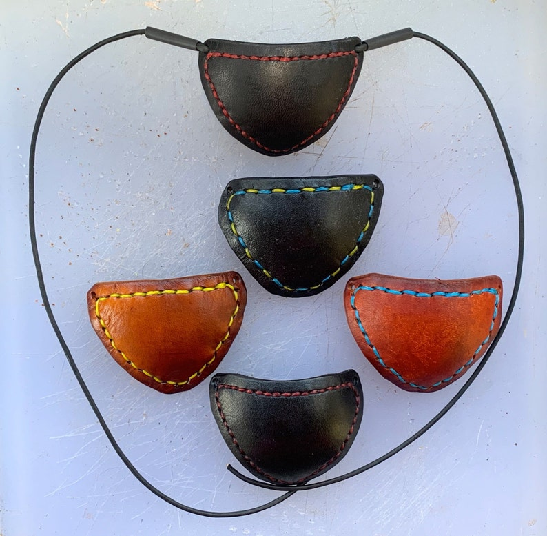 Handmade and decorated Leather Eyepatch image 0