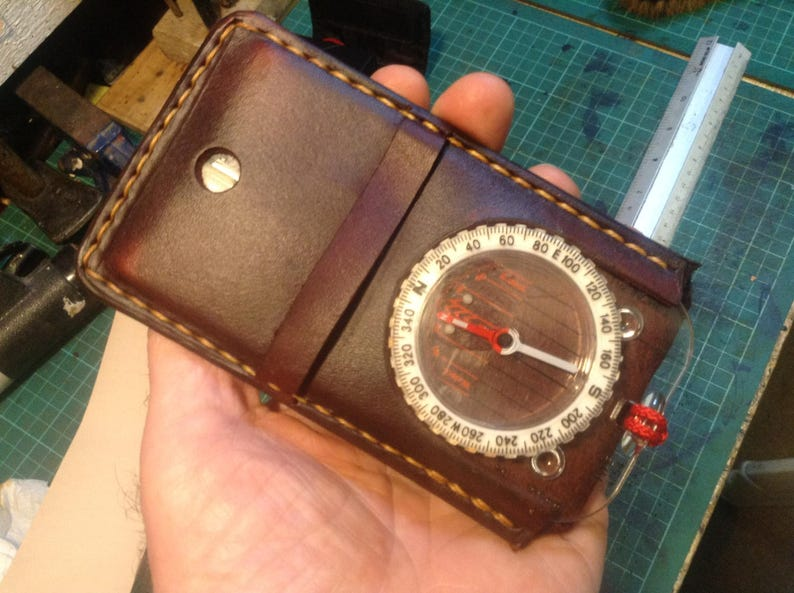 Silva Expedition 4 handmade leather compass case image 0