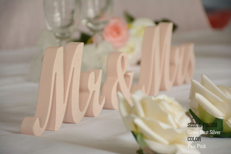 Mr and Mrs Table Sign Mr And Mrs Table Wooden Mr And Mrs Mr image 0