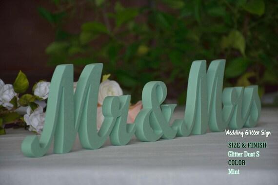 Mr Mrs Mint Mint Green Wedding Decorations Rose Gold Sign Etsy