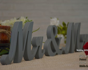 Mr & Mrs And Wedding Table Decor, Sweetheart Table Mr and Mrs