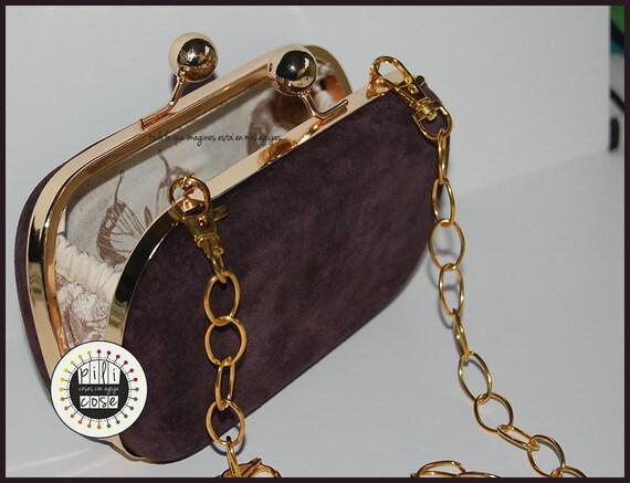 Schokolade braun Leder Kupplung / Tasche Partei / tote bag | Etsy