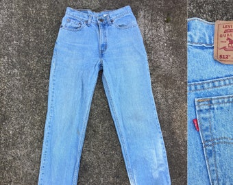 558200334c 29x31 Levis 512 jeans 90s light blue 512s slim straight 29 28 27 30 31 size  S small 7 Med 90s 1990s jeans high waist high rise 28