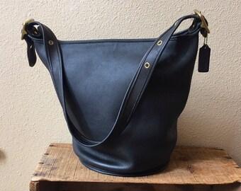 5d82a53540 Coach 9085 Navy blue made in USA duffel duffle sac bag feed sack bucket bag  XL rare shoulder bag handbag bucket bag made in America purse