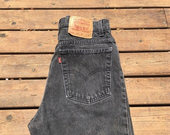 5f942468ee 31 Levis 512 jeans slim tapered black denim 512s high waist high rise 90s  1990s 30 31 32 tight cotton non stretch denim skinny jeans mom 90s