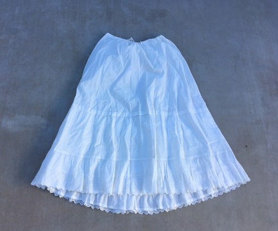 1800s cotton voile maxi skirt petticoat
