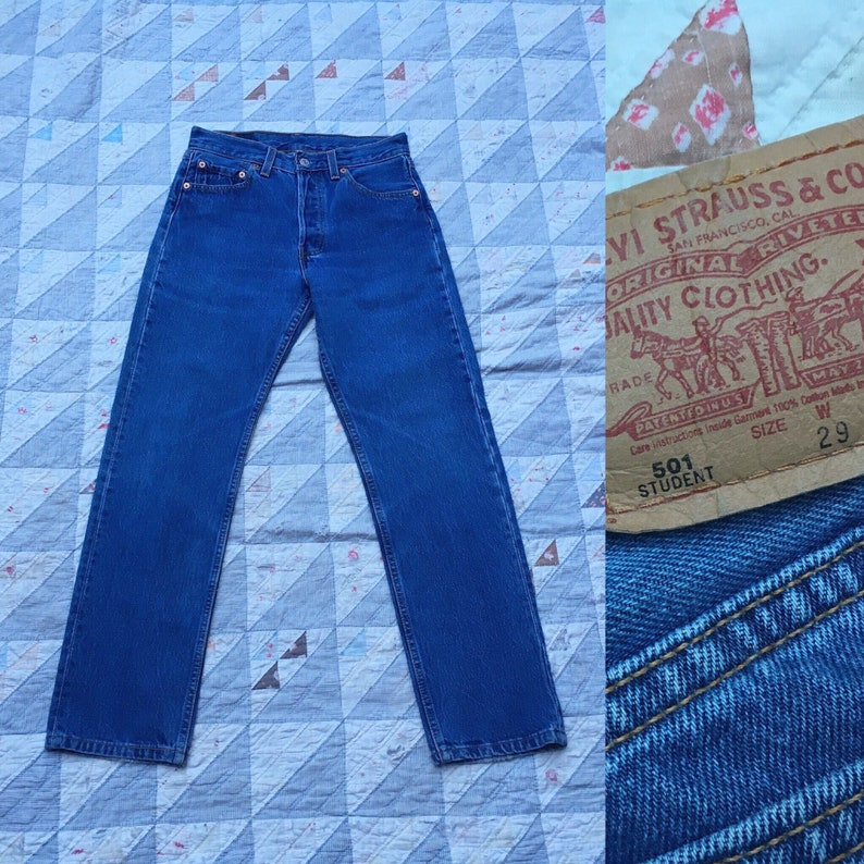 Sale 28x29 Levis 501 Jeans Usa Made In America American Made Etsy