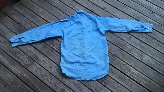 Perfect 1950s chambray shirt XS XXS 2XS extra sma… - image 7