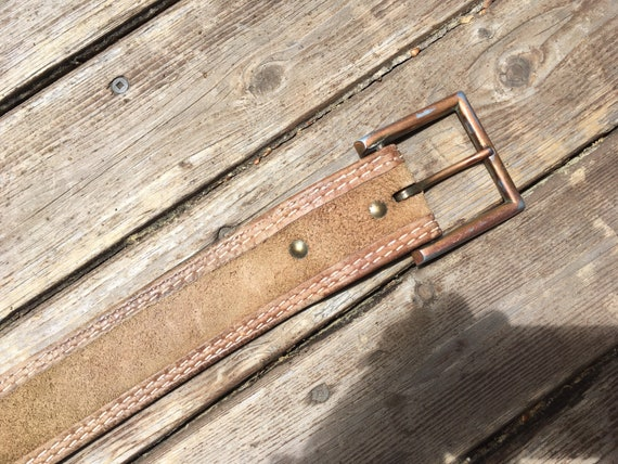 1970s wide leather belt